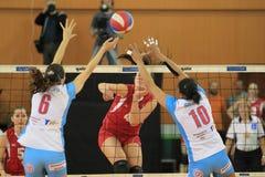 Soares Jolange and Cvetelina Zarkova - volleyball Stock Photo