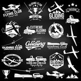 Soaring club retro badges and design elements. Stock Image