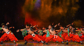 Soaring eagle-Grassland man-Chinese folk dance Stock Images