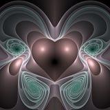 soaring för hjärtapink royaltyfri illustrationer