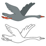 Soaring goose Royalty Free Stock Images