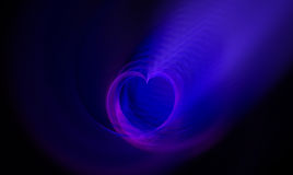 Soaring Hearts. A fractal illustration of hearts that resemble a comet or shooting star Royalty Free Stock Image