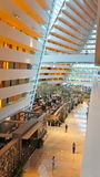 Soaring lobby at Marina Bay Sands, Singapore Stock Photo