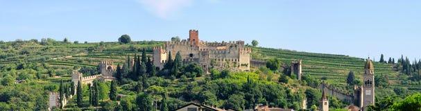 Soave Castello Royaltyfri Bild