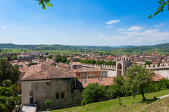 Soave town aerial view.Italian landscape Royalty Free Stock Images