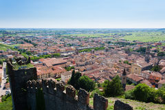 Soave town aerial view.Italian landscape Royalty Free Stock Image