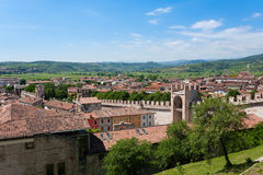 Soave town aerial view.Italian landscape Stock Images
