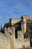 Soave Verona Ancient Castle with medieval walls Royalty Free Stock Image