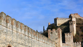 Soave Verona Italy Ancient Castle with medieval walls Stock Image
