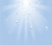 Sob a água Ilustração do Vetor