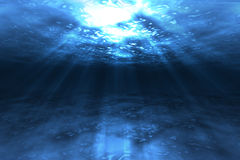 Sob a água ilustração stock