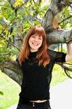 Sob a árvore Imagens de Stock Royalty Free