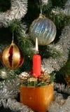 Sob a árvore de Natal Fotografia de Stock