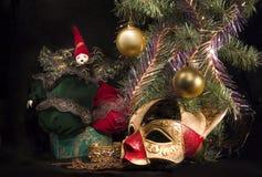 Sob a árvore de Natal Foto de Stock Royalty Free