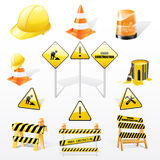 Sob ícones das construções Fotos de Stock