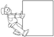 Sob a bandeira da construção ilustração stock