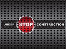 Sob a bandeira da construção Imagens de Stock Royalty Free