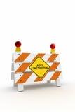 Sob a barreira da construção Foto de Stock Royalty Free