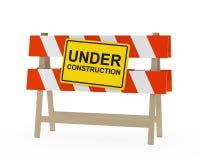 Sob a barreira da construção Foto de Stock