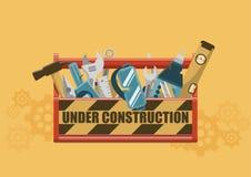 Sob a caixa de ferramentas da construção Foto de Stock Royalty Free