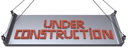 Sob a construção. Fotografia de Stock Royalty Free