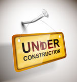 Sob a construção Imagem de Stock
