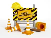 Sob a construção Foto de Stock