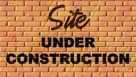 Sob a construção Foto de Stock Royalty Free