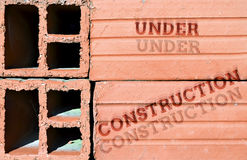 Sob a construção Fotografia de Stock