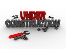 Sob a construção ilustração royalty free