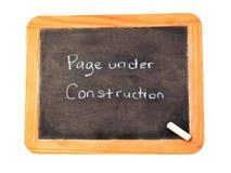 Sob a construção Fotos de Stock Royalty Free