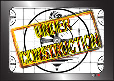 Sob a construção Ilustração do Vetor