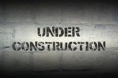 Sob a construção GR Foto de Stock Royalty Free