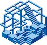 Sob a construção Hexel Foto de Stock