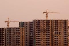 Sob construções da construção em Deli Imagens de Stock
