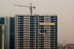 Sob construções da construção em Noida Gurgaon Fotos de Stock