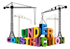 Sob a construção Imagens de Stock