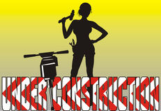Sob a construção - mulheres no trabalho Imagens de Stock