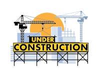 Sob a cor da construção Foto de Stock Royalty Free