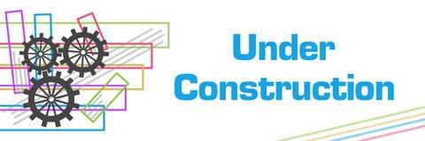 Sob cursos coloridos da construção ilustração royalty free