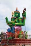 Sob a estátua da construção de Ganesha Fotografia de Stock