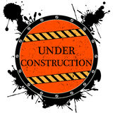 Sob o ícone da construção Imagens de Stock
