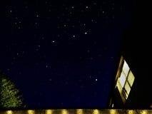 Sob o céu estrelado Imagens de Stock