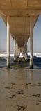 Sob o cais da praia do oceano panorâmico foto de stock