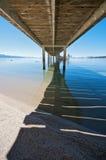 Sob o cais no recurso de férias de Lake Tahoe no Ca foto de stock royalty free