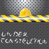 Sob o capacete do const Fotos de Stock Royalty Free