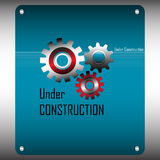 Sob o conceito da construção ilustração do vetor
