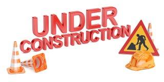 Sob o conceito da construção, rendição 3D Fotografia de Stock Royalty Free