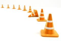 Sob o cone da construção ilustração royalty free