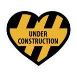 Sob o coração da construção ilustração stock